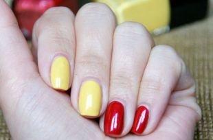 Красный дизайн ногтей, маникюр по фен-шуй с покрытием гель-лаком