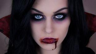 Макияж вампира на хэллоуин, вампирский макияж на хэллоуин