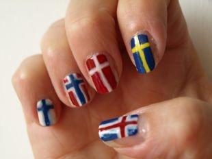 Маникюр с флагами, маникюр с флагами европы