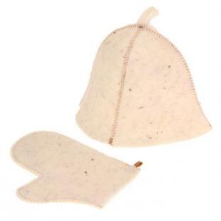 Скраб для волос, комплект для бани и сауны. шляпа и рукавица