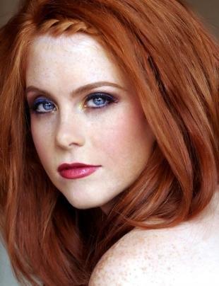Макияж для близко посаженных глаз, макияж для голубых глаз и рыжих волос
