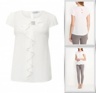 Белые блузки, блуза rinascimento, весна-лето 2016