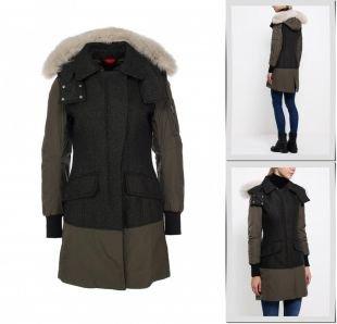 Хаки куртки, куртка утепленная peuterey, осень-зима 2015/2016