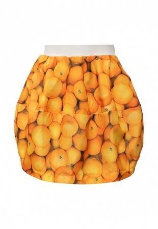 Оранжевые юбки, юбка be in, весна-лето 2016