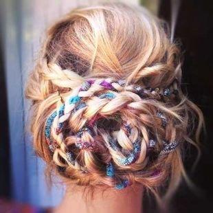 Прическа коса в косе на длинные волосы, прическа с косой в стиле «бохо»