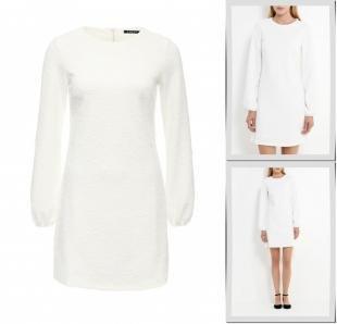 Белые платья, платье incity, осень-зима 2016/2017