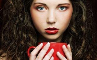 Макияж для брюнеток с голубыми глазами, повседневный очаровательный макияж для голубых глаз