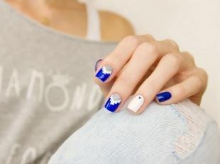 Модные рисунки на ногтях, модный маникюр на короткие ногти