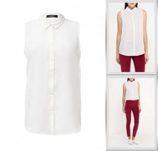Белые блузки, блуза mim, осень-зима 2016/2017