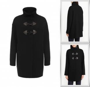 Черные пальто, пальто united colors of benetton, осень-зима 2016/2017