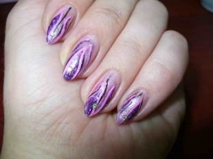 Рисунки на острых ногтях, весенний дизайн нарощенных ногтей