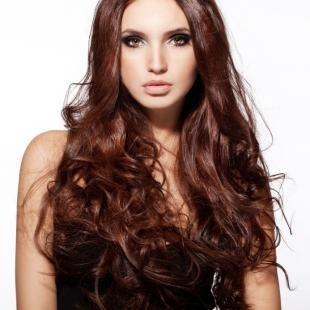 Красно каштановый цвет волос