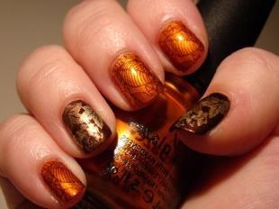 Рисунки с листьями на ногтях, дизайн ногтей «осеннее настроение»