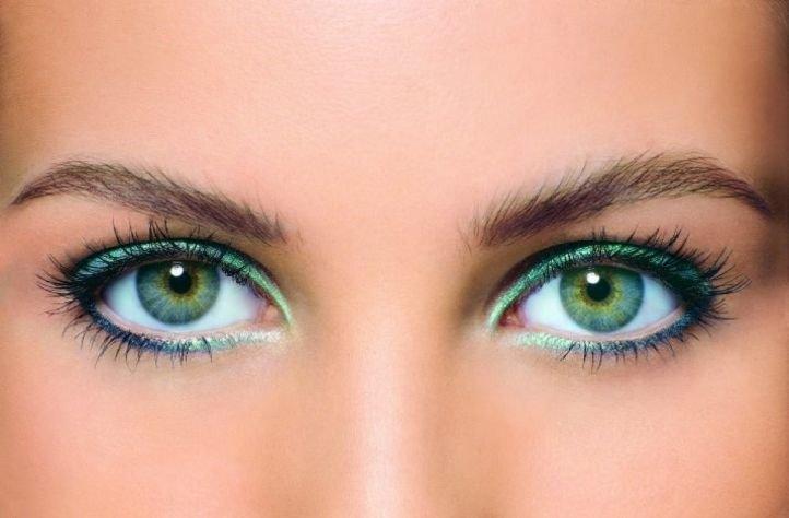 Вечерний макияж зеленых глаз