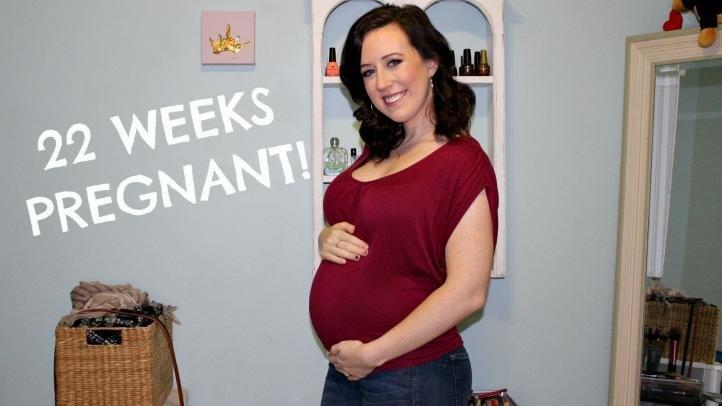 Фото живота на 22-й неделе беременности