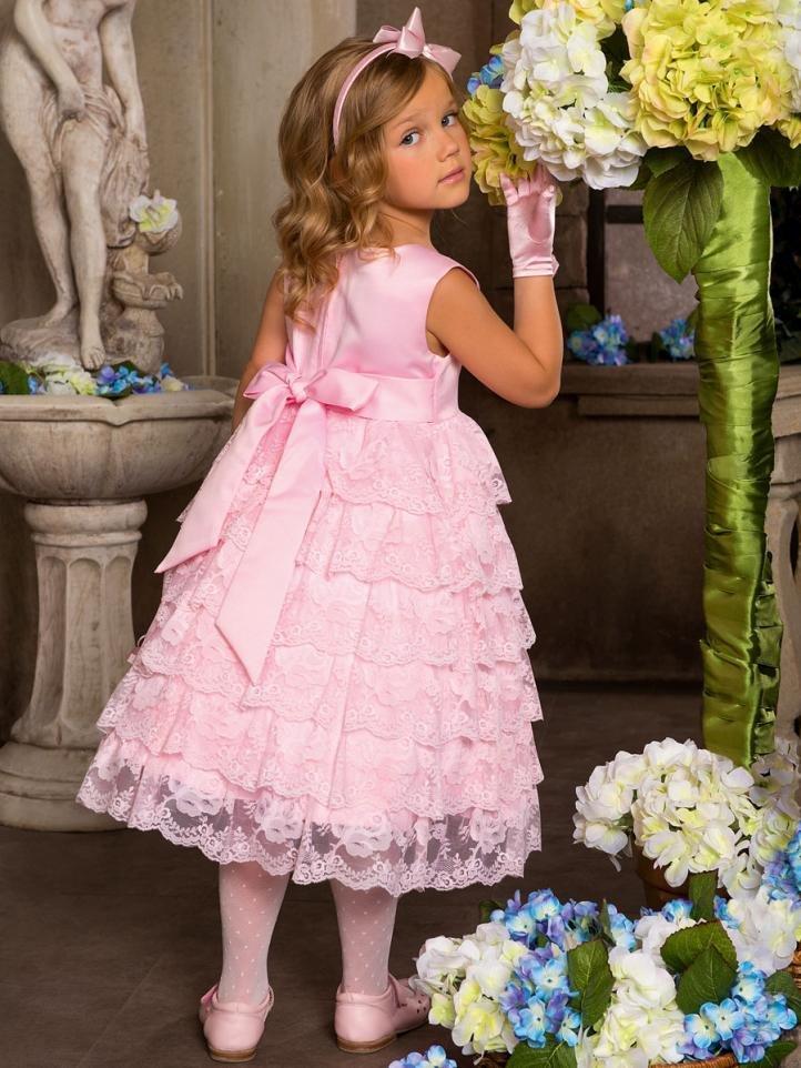 Розовое платье на выпускной в детский сад
