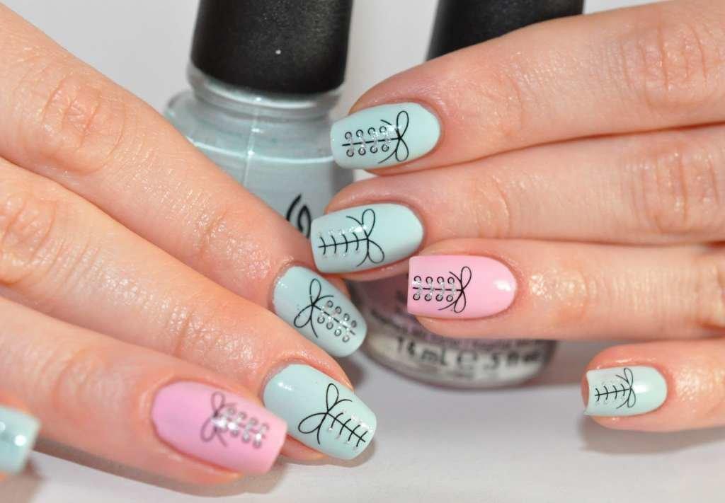 Рисунки на ногтях пастельных тонов 58