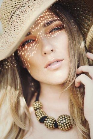 Макияж на фотосессию на природе, пастельный летний макияж для голубых глаз