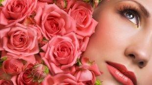Макияж для блондинок с голубыми глазами, макияж для серых глаз в бронзовой гамме