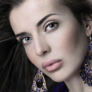 Нежный макияж, летний макияж для серых глаз