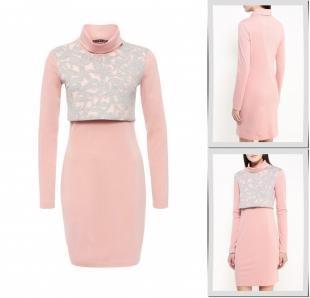Розовые платья, платье gloss, осень-зима 2016/2017