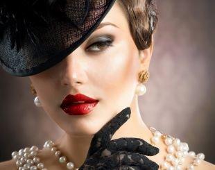Макияж в стиле Чикаго, макияж для шатенок с карими глазами