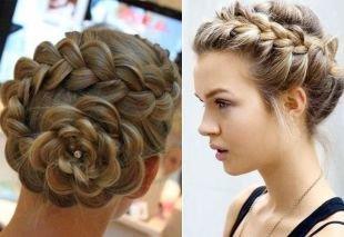 Русый цвет волос на длинные волосы, красивые прически с косами на выпускной