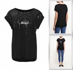 Черные футболки, футболка sisley, весна-лето 2016