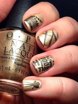 Современные рисунки на ногтях, голливудский маникюр на короткие ногти