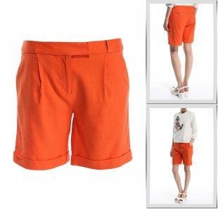 Оранжевые шорты, шорты baon, весна-лето 2015
