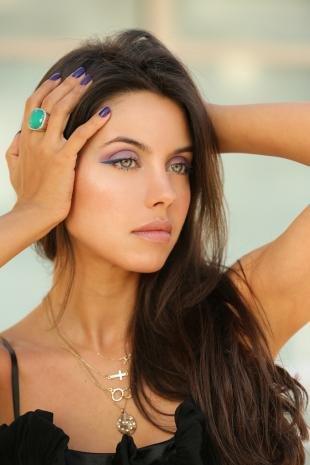 Свадебный макияж с фиолетовыми тенями, красивый макияж для глубоко посаженных глаз