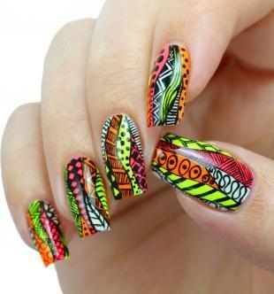 Египетские рисунки на ногтях, этно-дизайн ногтей