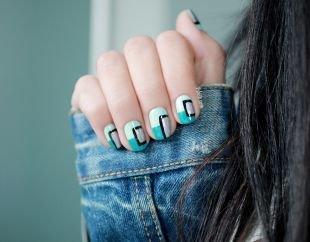 Модный дизайн ногтей, оригинальый маникюр