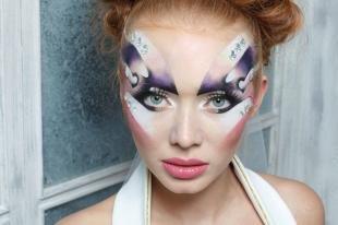 Макияж со стразами, фантазийный макияж