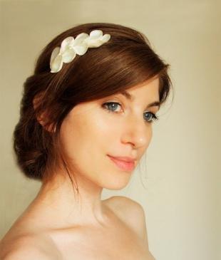 Цвет волос тициан на длинные волосы, модная греческая прическа с ободком