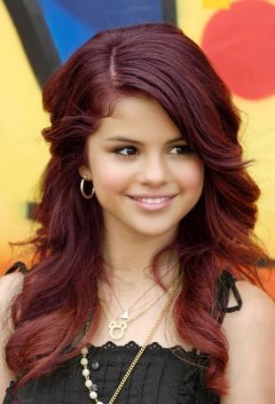 Цвет волос красное дерево, рубиновый цвет волос