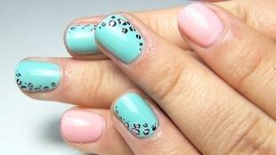 Леопардовые рисунки на ногтях, маникюр на короткие ногти с леопардовым принтом