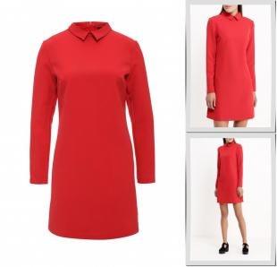Красные платья, платье befree, осень-зима 2016/2017