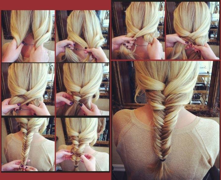 Причёски на средние волосы своими руками для девочек фото